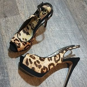 [SAM EDELMAN] NEW Snow Leopard Heels